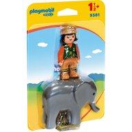 Playmobil - Ingrijitor Zoo cu elefant