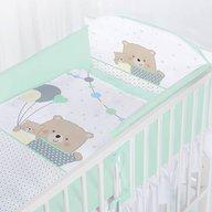 Albero Mio - Set lenjerie imprimata 5 piese Teddy Bears with Balloons, Turquoise