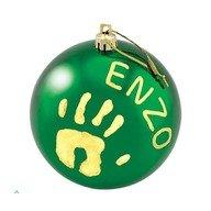 Baby Art Christmas Ball Green