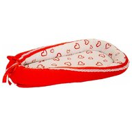 MyKids - Baby Nest  Hearts-Red White