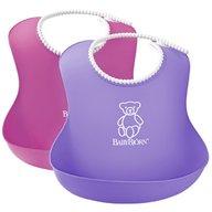 BabyBjorn - Set 2 bavete Soft Bib, Pink/Purple