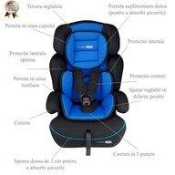 BabyGo - Scaun auto copii FreeMove, 9-36 kg, Blue