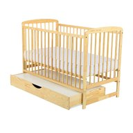 BabyNeeds - Patut din lemn Ola 120x60 cm, cu sertar, Natur