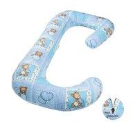BabyNeeds - Perna 3 in 1 pentru gravide si bebelusi Soft Plus, Ursuleti albastri