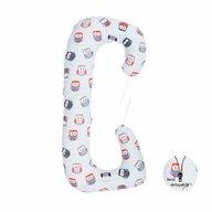BabyNeeds - Perna multifunctionala Soft Plus, Bufnite, Gri-Rosu