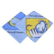 BabyNeeds - Scutec finet 75/75 cm, 2 bucati, Girafa si zebra, Albastru
