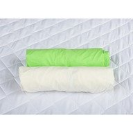 BabyNeeds - Set 2 cearceafuri cu elastic 140x70 cm, Verde+Alb