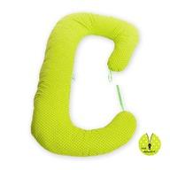 BabyNeeds - Perna 3 in 1 pentru gravide si bebelusi Soft Plus, Bulinute mici alb cu verde