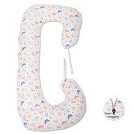 BabyNeeds - Perna 3 in 1 pentru gravide si bebelusi Soft Plus, Fluturasi, Multicolor