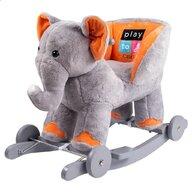 PLAYTO - Balansoar Elefant  Cu roti din Plus