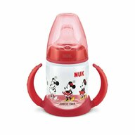 Nuk - NUK - Biberon  First Choice 150ml Cu Toarte Si Adaptor Din Silicon Mickey Rosu 6 luni+
