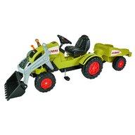 Simba - Tractor cu pedale Claas Celtis Loader Cu remorca, Cu cupa, Verde