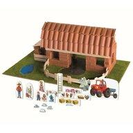 Trefl - Set de constructie Ferma mare Din caramidute ceramice Brick trick, Multicolor