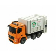 Lena - Camion gunoi Mondo Mercedes Arocs cu telecomanda, cu container inclus, scara 1:20
