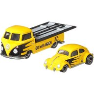 Hot Wheels - Camion Volkswagen Transporter T1 Pickup Cu masina Volkswagen Classic Bug by Mattel Car Culture