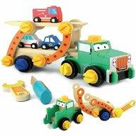 Smily Play - Camion Transportor demontabil din Lemn