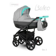Camarelo - Carucior copii 2 in 1 Baleo 2019 Ba-3, Turcoaz/Gri