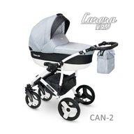 Camarelo - Carucior copii 2 in 1 Carera New Can-2, Gri deschis