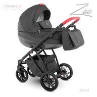 Camarelo - Carucior copii 2 in 1 Zeo zeo-2, Gri inchis/Rosu