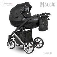 Camarelo - Carucior copii 3 in 1 Maggio MgEco-12, Negru/Alb