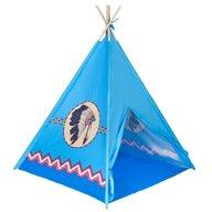 PLAYTO - Cort de joaca Teepee Stil indian,  Mic, Albastru