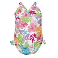 Iplay - Costum de baie fetita cu scutec inot integrat, 12 luni, SPF50+, Multicolor