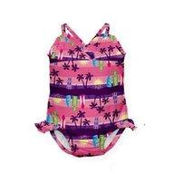 Iplay - Costum de baie fetita cu scutec inot integrat, 18 luni, SPF50+ , Sunset