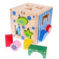 Ecotoys - Jucarie sortare Cub educational 2047 din Lemn