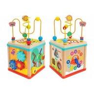 Globo Legnoland - Jucarie motrica Cub educational multiactivitati 16 cm