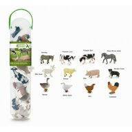 Collecta - Cutie cu 12 minifigurine Animale de la Ferma