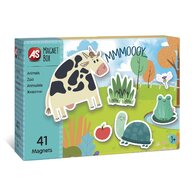 AS - Puzzle magnetic Animale In cutie Puzzle Copii, pcs  41, Multicolor