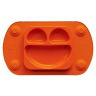 EasyTots - Farfurie autodiversificare portabila tip tava EasyMat Mini, din cauciuc cu ventuze, Portocaliu