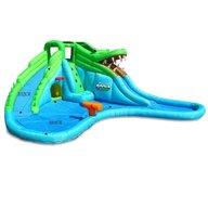 Happy hop - Saltea gonflabila Crocodil cu tobogane cu apa