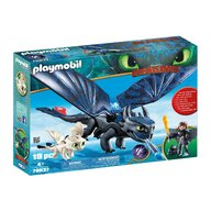 Playmobil - Hiccup, Toothless si pui de dragon