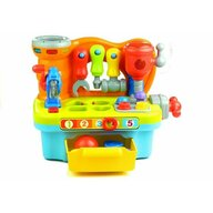 Hola Toys - Jucarie interactiva banc de lucru multifunctional, cu muzica si lumini
