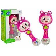 Hola Toys - Jucarie zornaitoare, cu lumini, sunete si melodii, Roz