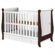 Hubners Patut copii din lemn Mira 120x60 cm alb-venghe cu sertar