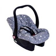 Sevi Baby - Husa protectie scoica auto cu reductor, Grey Stars