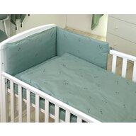 Jolie - Aparatoare laterala pat Pure, 180x35 cm, Verde