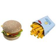 Haba-  Jucarie din plus, hamburger si cartofi prajiti, 3 ani+