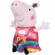 Play by Play - Jucarie din plus 17 cm, Cu rochie din satin, Just so Happy Peppa Pig