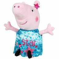 Play by Play - Jucarie din plus 25 cm, Cu rochie din satin Peppa Pig, Turcoaz