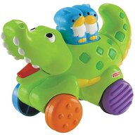 Fisher Price - Jucarie interactiva Crocodil by Mattel Infant Press and Go