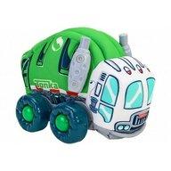 Globo - Jucarie moale pentru copii tip masina de Gunoi Tonka cu sunete cu roti si accesorii din plastic, Verde