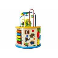 Lean Toys - Cub din lemn cu activitati