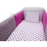 MyKids - Lenjerie Colorful Stars, 9 piese 120x60 cm, Pink