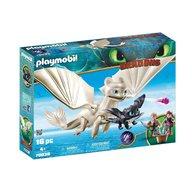 Playmobil - Jucarie Light Fury, Pui de Dragon si copii