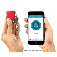 Lapa - Localizator Bluetooth, dispozitiv anti-pierdere si localizare rapida+Cadou Set 2 semnalizatoare luminoase Proviz, Red