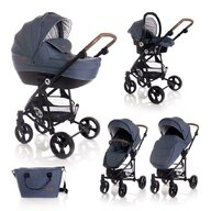 Lorelli - Carucior Set 3 in 1 Crysta, Blue