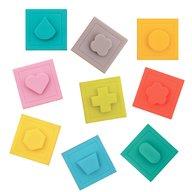 Ludi - Set 9 cuburi - Primul joc de construit al bebelusului